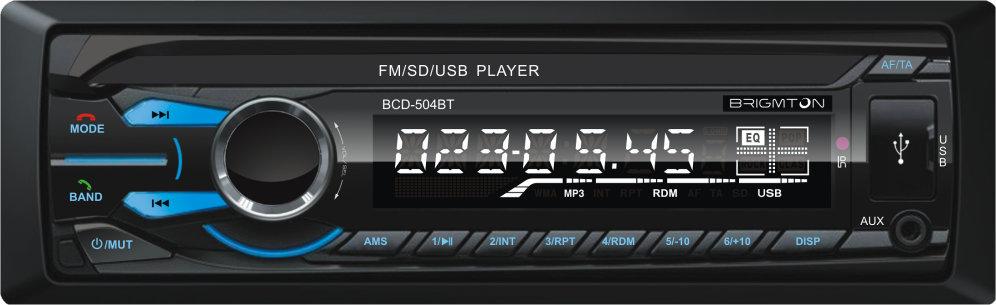 Ver Brigmton BCD 504BT 180W Bluetooth Negro receptor multimedia para coche