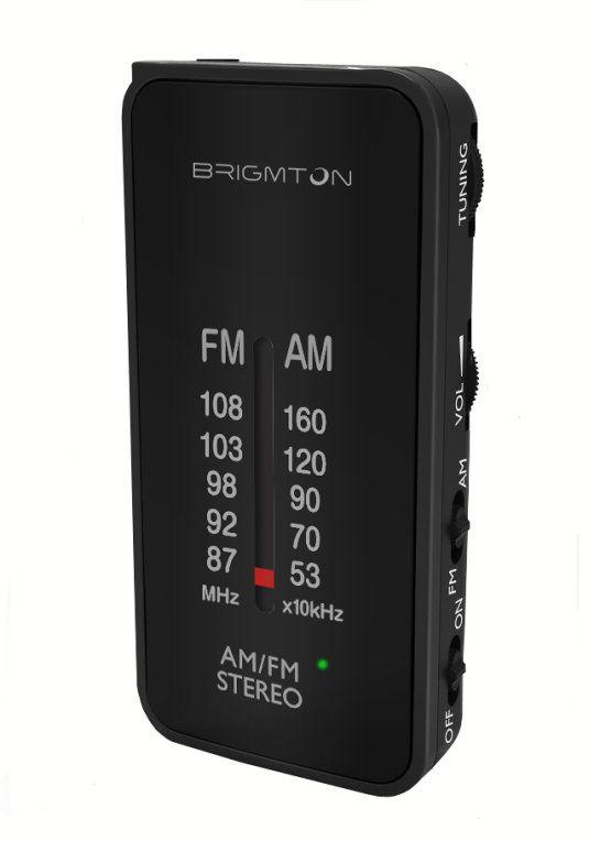 Brigmton BT 224 Portatil Analogica Negro radio