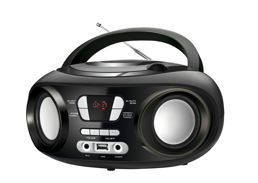 Brigmton W 501 N Digital 6W Negro Gris Radio CD