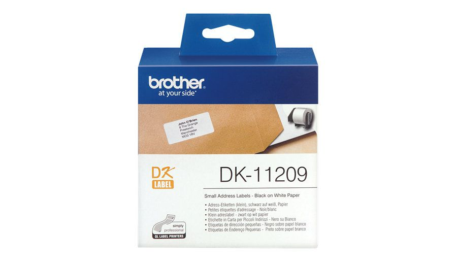 Brother Etiquetas precortadas de direccion pequenas papel termico