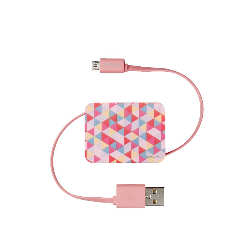 Ver CABLE PNY USB RETRACTIL MULTICOLOR