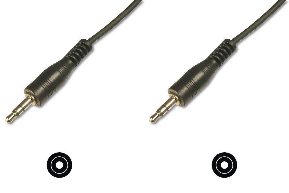 CABLE DIGITUS AUDIO JACK ESTEREO DE 3 5MM 250M CCS 2X01010 MM NEGRO