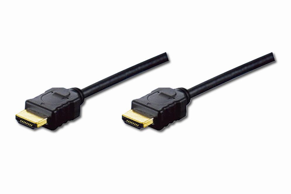CABLE DIGITUS VIDEO HDMI ESTANDAR TIPO A MM 2M WETHERNET FULLHD DORADO NEGRO