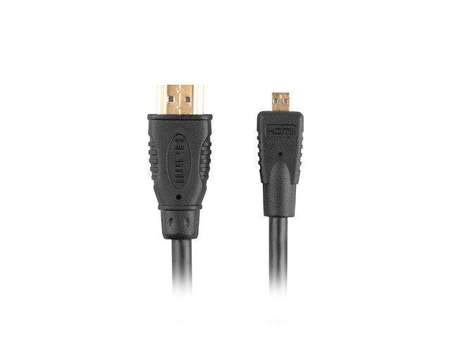 CABLE HDMI LANBERG M A HDMI MICRO H V14 4K 3D 1M NEGRO