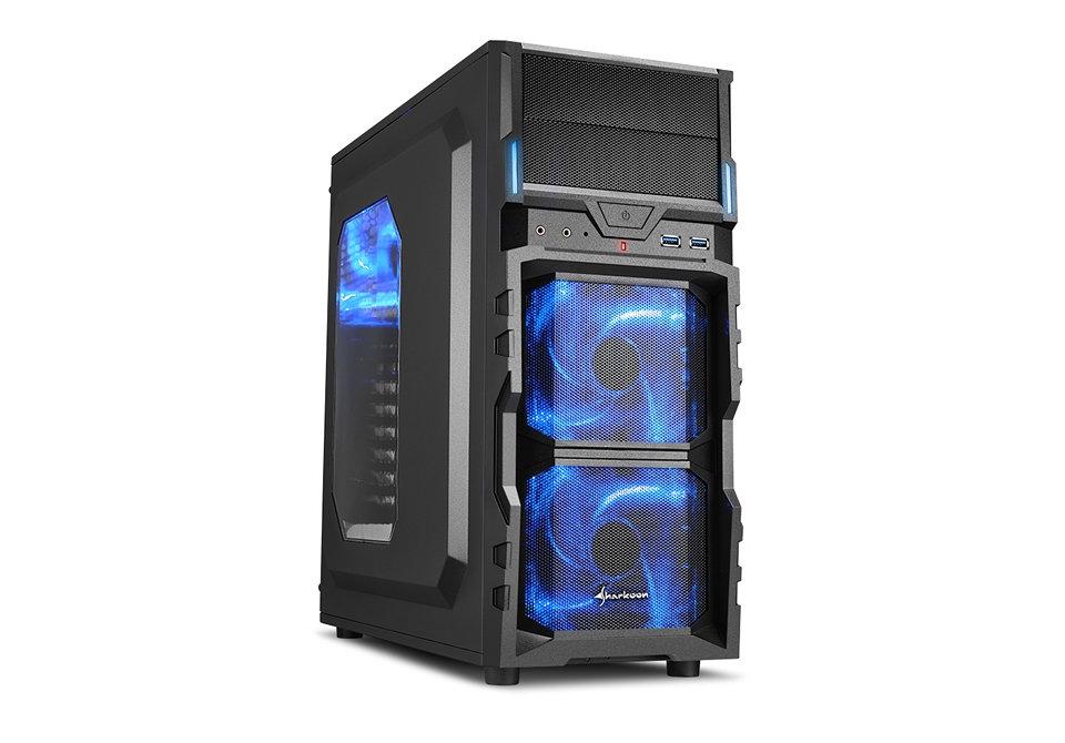 Sharkoon Vg5 W 2xusb3 0 Sin Fuente Azul