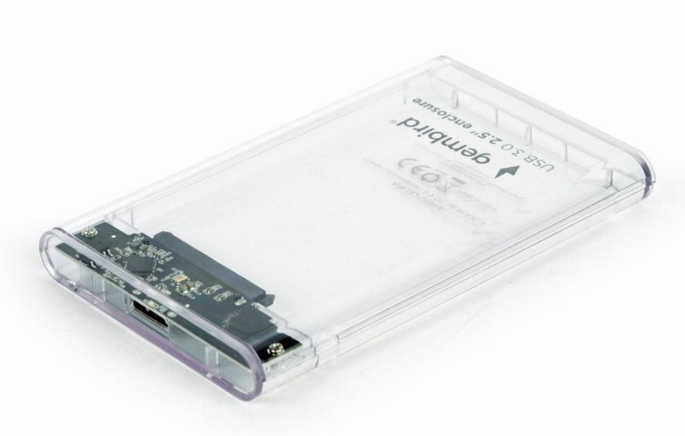 CARCASA DISCO DURO GEMBIRD SATA USB 30 2 5 TRANSPARENTE