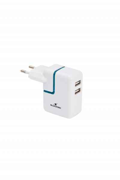 Ver CARGADOR PARED 2 x USB BLANCO 2100 MA