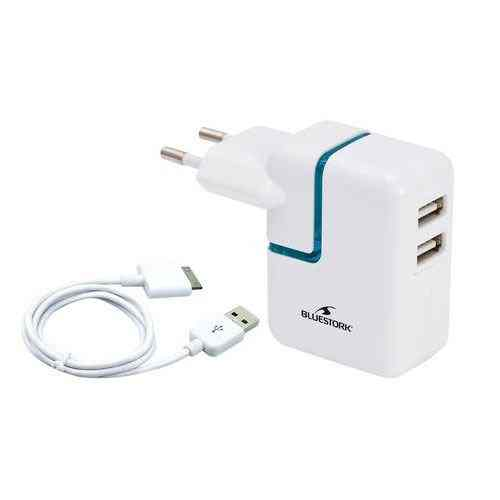 Cargador Univ 220v 2port Usb Ipad Ipod Iphone