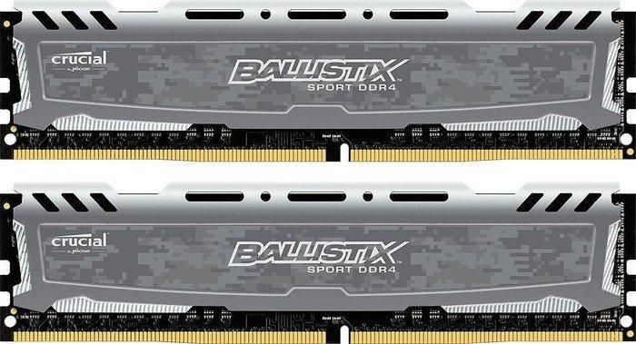 Ver Crucial DDR4 BALLISTIX SPORT LT 2x4GB 2400 GRAY