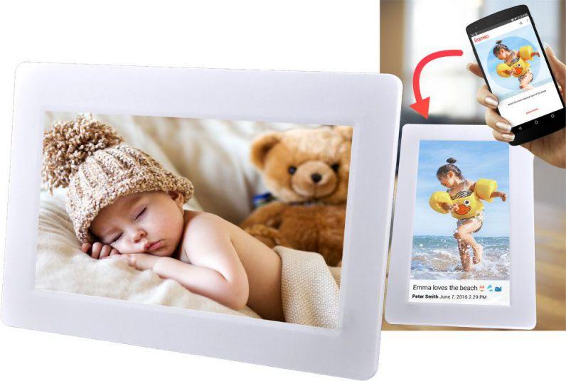 Denver Frameo 101 Pantalla tactil Wifi Color blanco marco fotografico digital