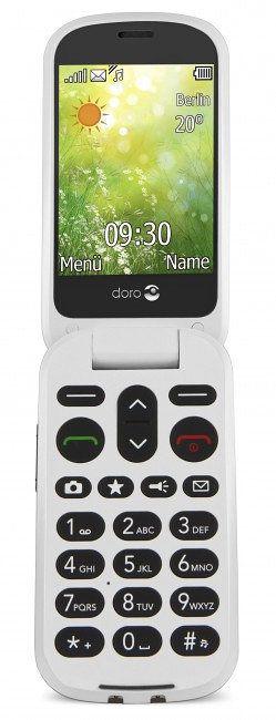 Doro 6050 28 111g Oliva Color blanco Telefono basico