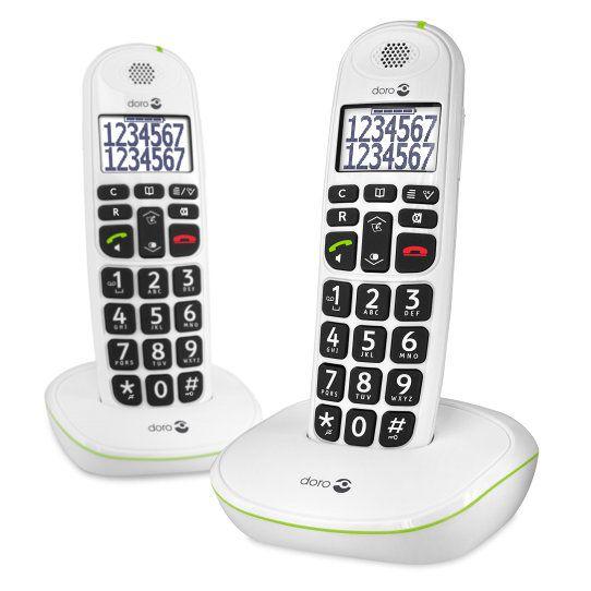 Doro Easy 110 Duo Telefono DECT Color blanco