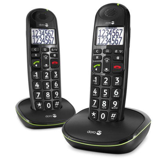 Doro Easy 110 Duo Telefono DECT Negro