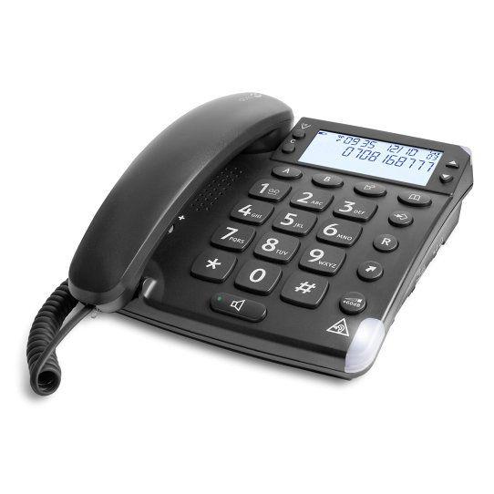 Doro Magna 4000 Analog telephone Identificador de llamadas Negro