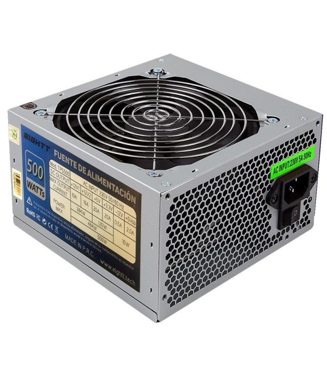 Eightt 500w Ventilador Silencioso De 12 Cm 4x Sata 2x Molex
