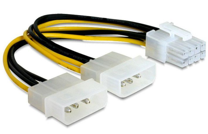 Gembird CC PSU 81 Interno 015m PCI E 8 pin 2 x Molex 3 pin Negro Color blanco Amarillo cable de transmision