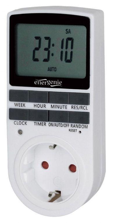 Gembird EG SST 01 Negro Blanco DailyWeekly timer contador electrico