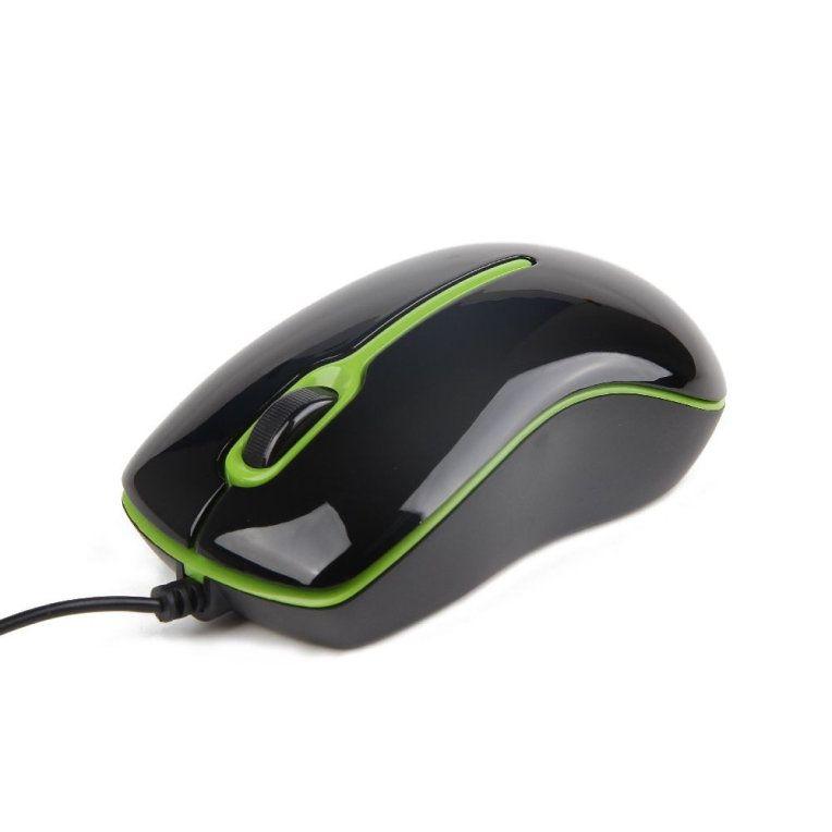 Ver Gembird MUS U 004 G USB Optico 1000DPI Negro Verde