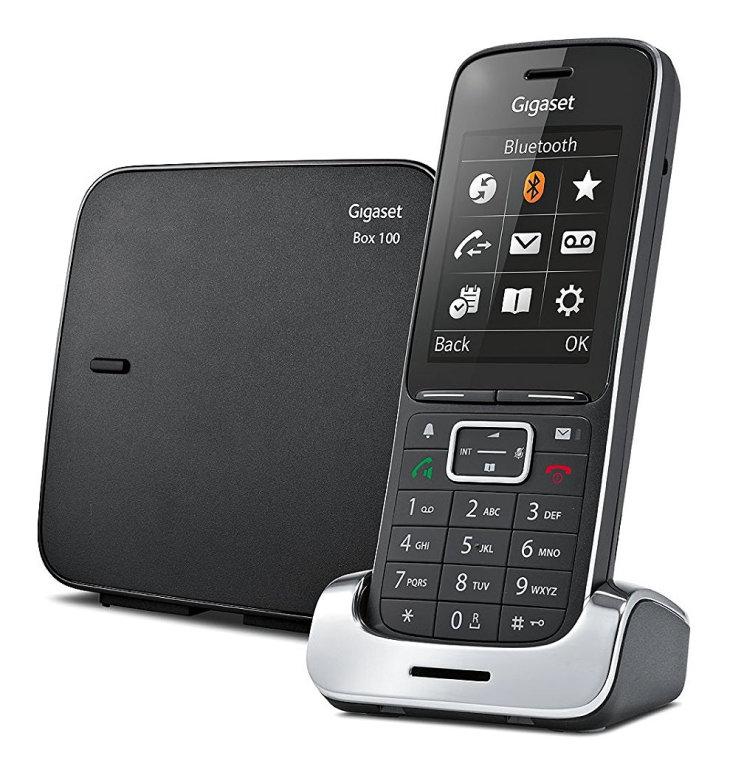 Ver Gigaset SL450 AnalogDECT telephone Identificador de llamadas Negro