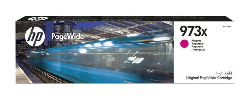 HP Cartucho magenta original PageWide 973X de alto rendimiento