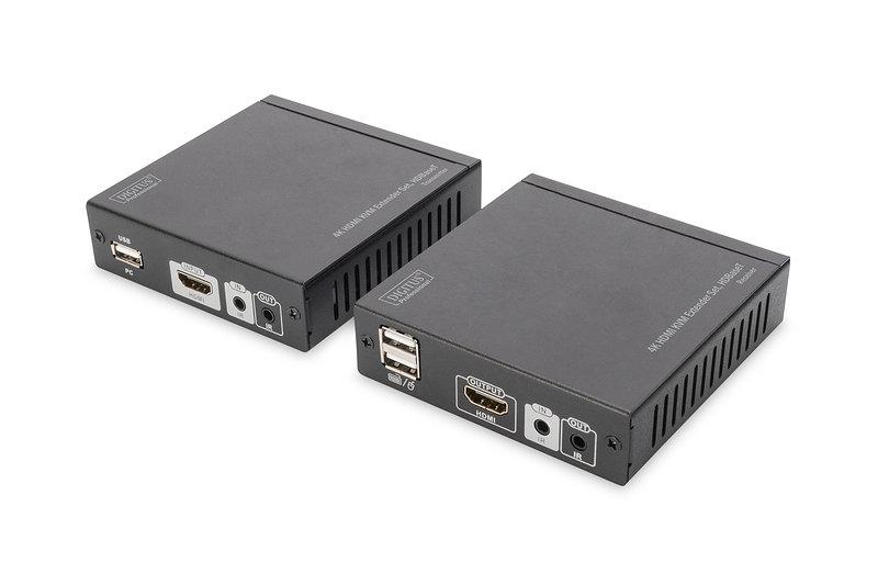 Kit Extensor Digitus 4k Hdmi Kvm Hdbaset 70m Cable Red