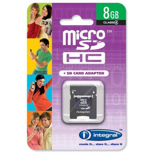 Micro Sd Hc Integral 8gb C4