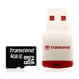 Micro Sd Hc Transcend 4gb Usb Adapter Class 2