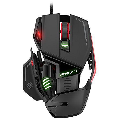 Mad Catz MCB4373300A3041 USB Optico 12000DPI Negro Rojo