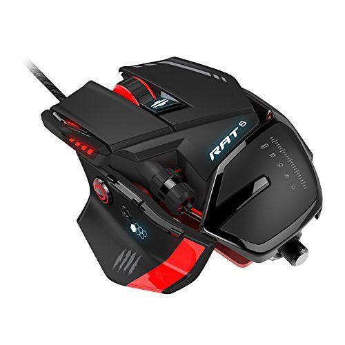 Mad Catz RAT 6 USB Laser 8200DPI Negro Rojo mano derecha