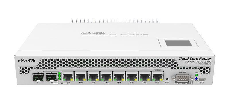 Mikrotik CCR1009 7G 1C 1S PC