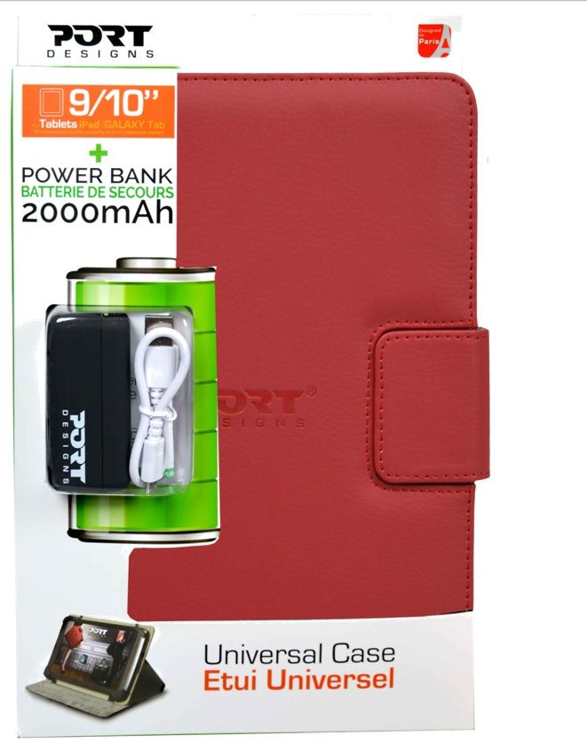 Ver PACK FUNDA MUSKOKA ROJA 10 POWER BANK 2000 MA
