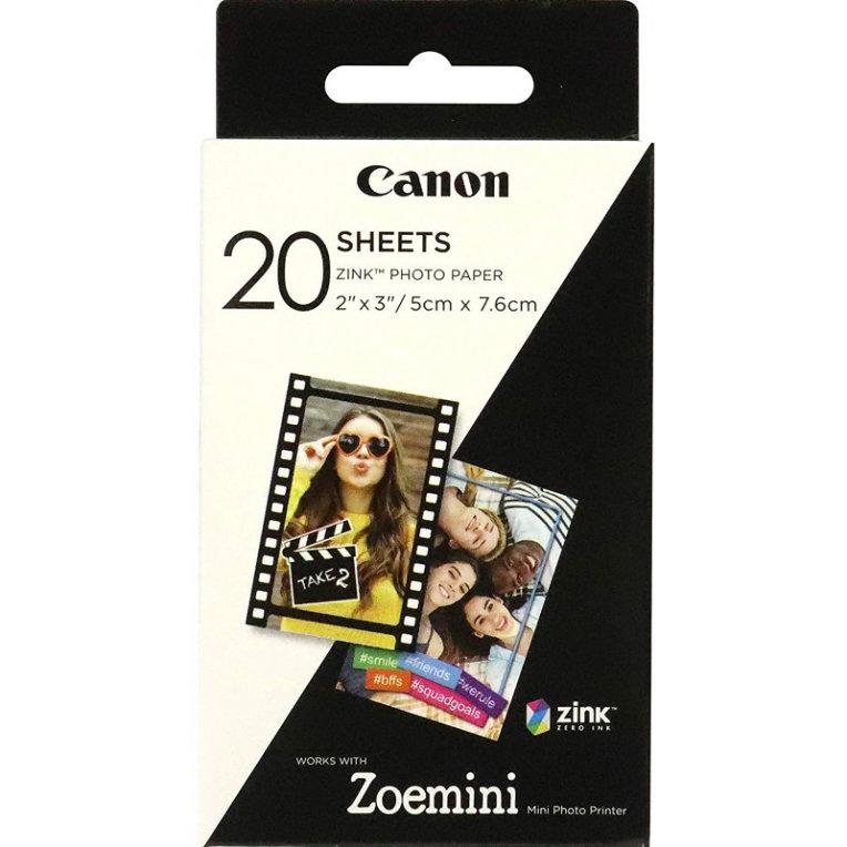 PAPEL CANON ZINK PAPER ZP 2030 20 SHEETS EXP HB