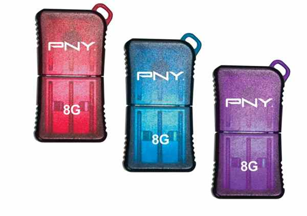 Pendrive Pny Pack 8gb Colores