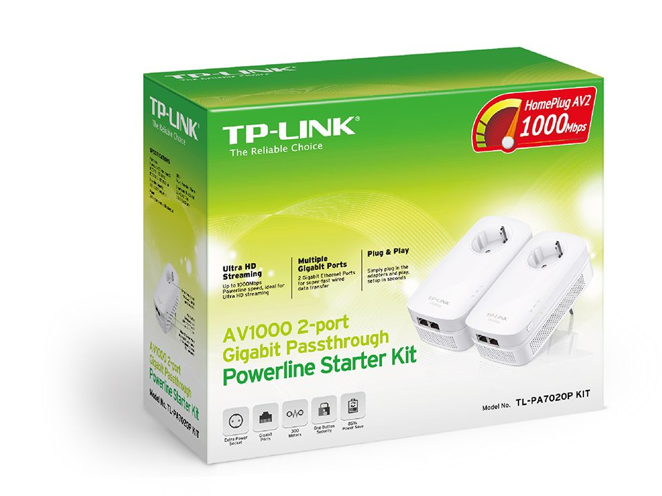 Ver POWERLINE KIT TP LINK AV1000