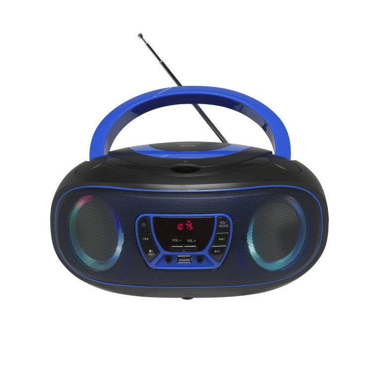 Reproductor Denver Cdmp3radiousbaux Boombox Tlc 212 Azul