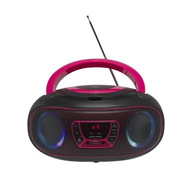 Reproductor Denver Cdmp3radiousbaux Boombox Tlc 212 Rosa
