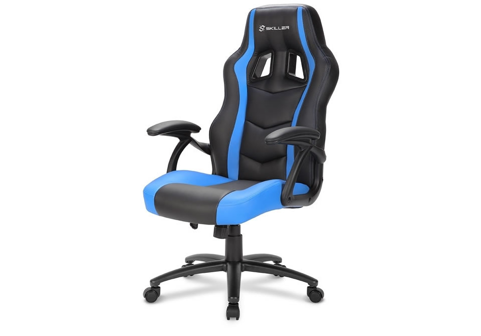Ver SILLA GAMING SHARKOON SKILLER SGS1 NEGRO AZUL 18
