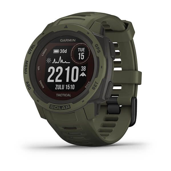 Smartwatch Garmin Instinct Solar Tactical Verde Militar