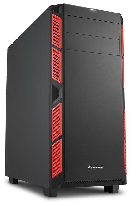 Ver Sharkoon AI7000 Silent Midi Negro Rojo