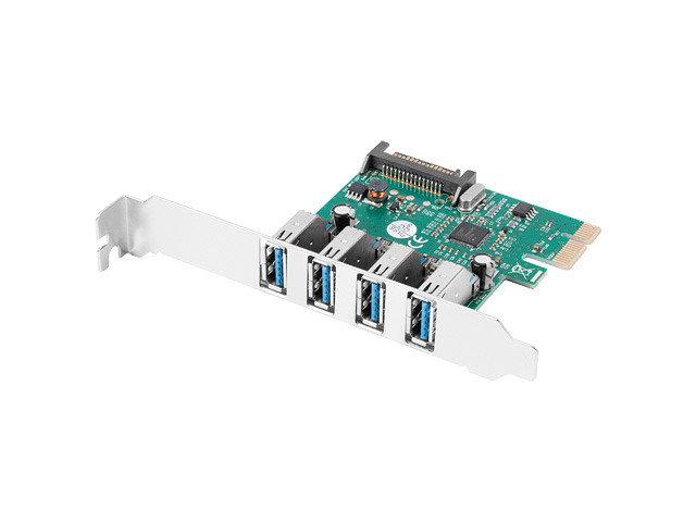 TARJETA PCI EXPRESS LANBERG X1 A 4X USB A 3 1 GEN1 LOW PROFILE