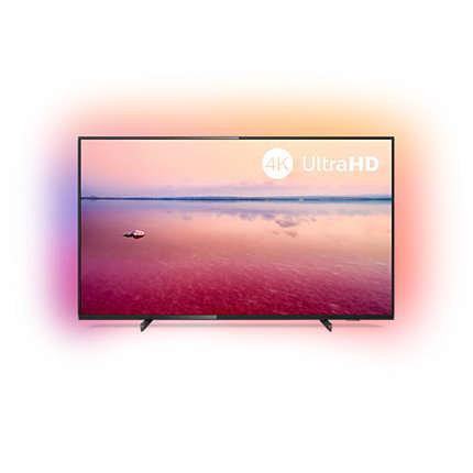 TV PHILIPS 43PUS6704 43 UHD 4K SMART WIFI NEGRO