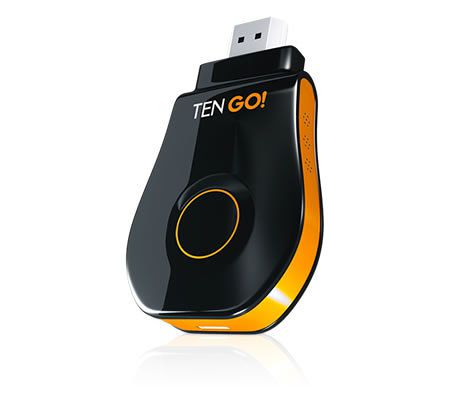 Ver TenGO GoCast AllMirroring HDMI Full HD Negro Naranja dongle Smart TV
