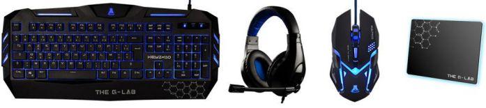 Ver The G Lab Combo 300 USB QWERTY Negro Azul