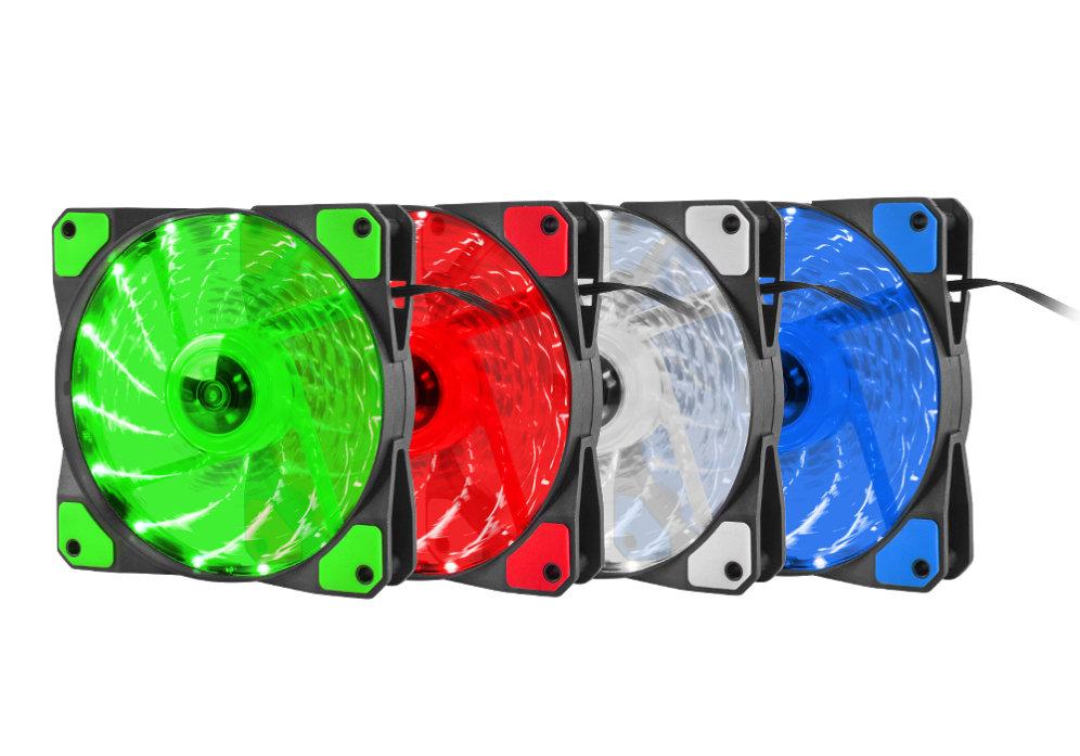 Ventilador Caja Genesis Hydrion 120 120mm Rojo