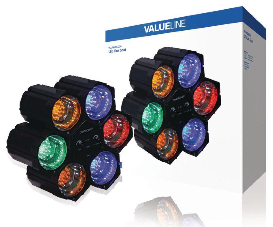 Valueline VLLINKLED20 Interior 6W Azul Verde Naranja Rojo punto de iluminacion