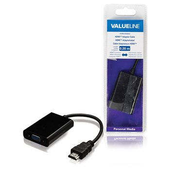 Ver Valueline VLMB34900B02 HDMI VGA  35mm Negro adaptador de cable