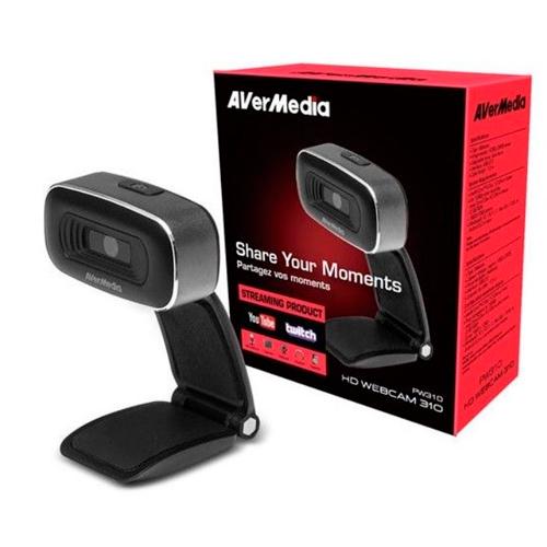 Avermedia Webcam Youtuber Pw310 Hd 1080p Cmos Sin Micro