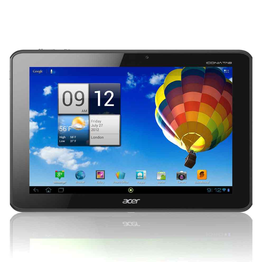 Acer Iconia Tab A510 10  Tegra 3 32gb Wifi Silver
