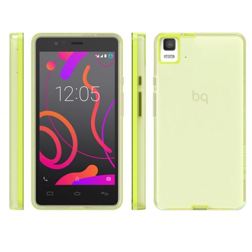 Ver Bq Funda Aquaris E5s Lime Gummy