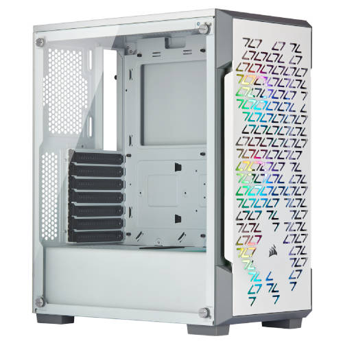 Corsair Icue 220t Rgb Tempered Glass Cristal Frontal Blanca